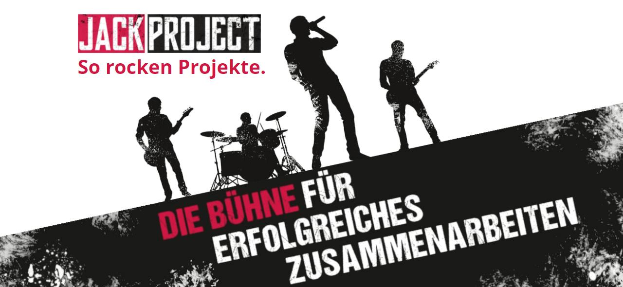 JackProject Bühne Erfolgreiches Zusammenarbeiten Logo Front