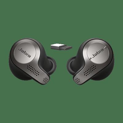 Jabra Evolve 65t In-Ear Headset titanum-black
