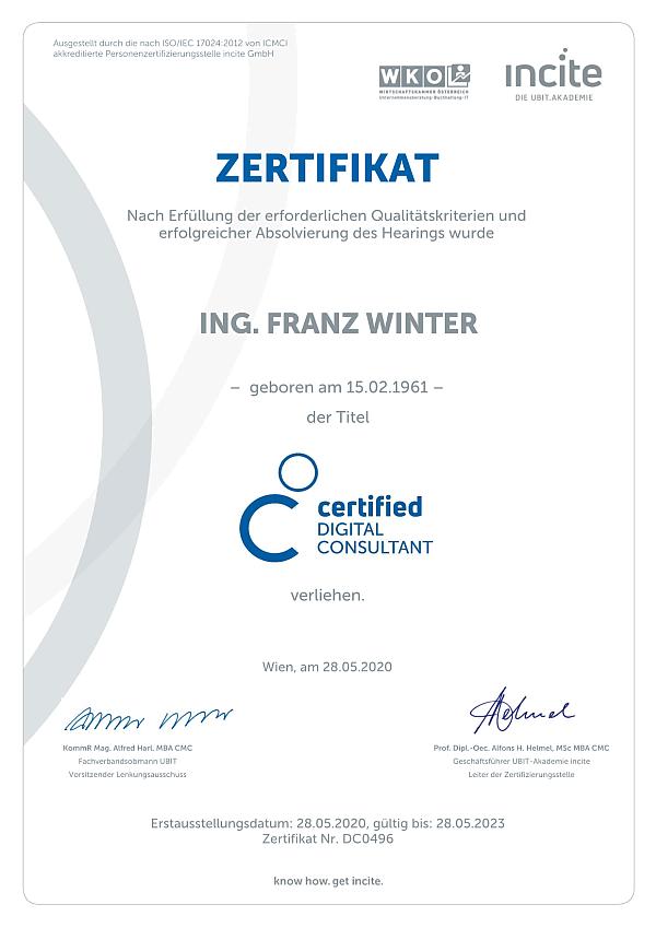 Certified Digital Consultant - CDC Zertifikat