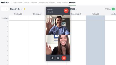 Stackfield s4 Videokonferenzen Screen Sharing